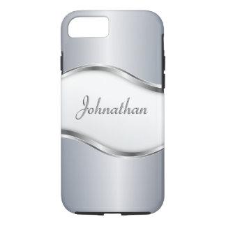 Gepersonaliseerde Zilveren Golf iPhone 8/7 Hoesje