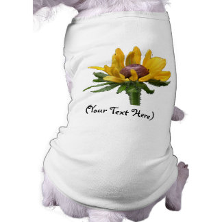 Gepersonaliseerde Zwarte Eyed Susan Flower Dog T-S T-shirt