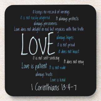 Geplaatst onderzetter - de Liefde is Geduldige Men