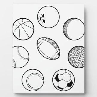 Geplaatste de Ballen van sporten Fotoplaat