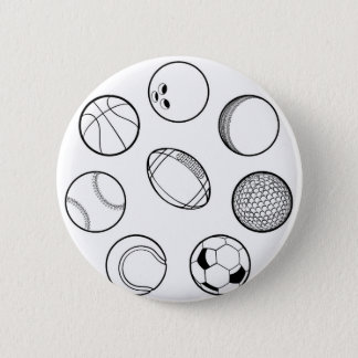 Geplaatste de Ballen van sporten Ronde Button 5,7 Cm