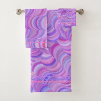 Geplaatste handdoek - Paarse Krommen