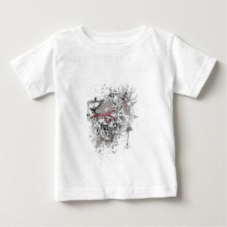geplagi?ërd dood schedel vintage ontwerp baby t shirts