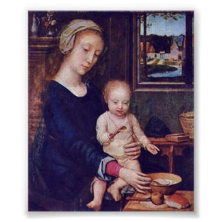 Gerard David - Madonna van de Soep van de Melk Poster
