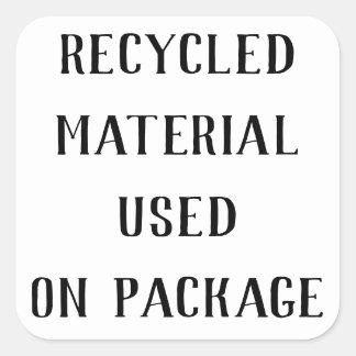 Gerecycleerde Materiële het Verschepen Repurpose Vierkante Sticker