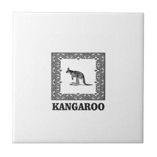 geregelde kangoeroe tegeltje