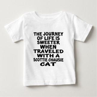 Gereist met chausie Kat Scottie Baby T Shirts