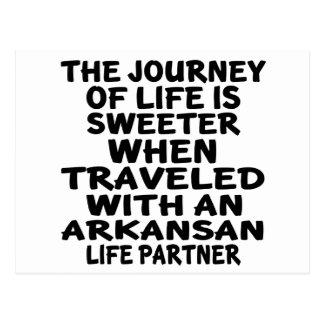 Gereist met een Partner van het Leven Arkansan Briefkaart