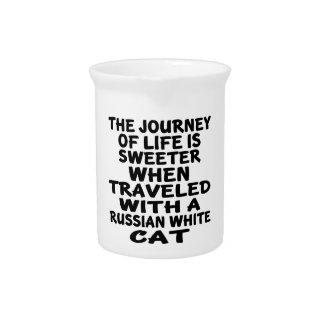 Gereist met Russische Witte Kat Drink Pitcher