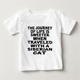 Gereist met Siberische Kat Baby T Shirts