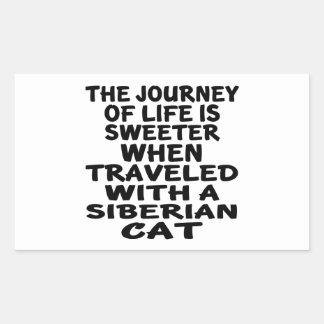 Gereist met Siberische Kat Rechthoekige Sticker
