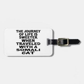 Gereist met Somalische Kat Bagagelabel