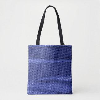 gerimpelde effect blauwe tint draagtas