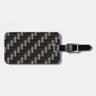 Geruite het Patroon van Carbonfiber Bagagelabel