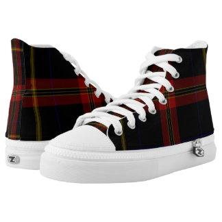 Geruite Schotse wollen stof High Top Schoenen