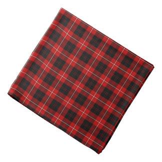 Geruite Schotse wollen stof van de Clan van de Bandana