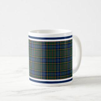 Geruite Schotse wollen stof van de Jacht van de Koffiemok
