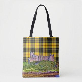 Geruite Schotse wollen stof van het Kasteel van Draagtas