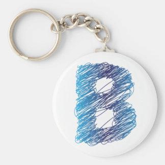 Geschetste Brief B Keychain Sleutelhanger
