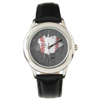 Gescheurd Honkbal Horloge
