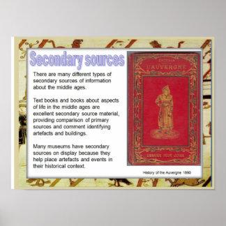 Geschiedenis, middeleeuwse, Secundaire bronnen Poster