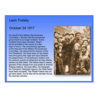 Geschiedenis, Oktoberrevolutie, Trotsky Toespraak Briefkaart