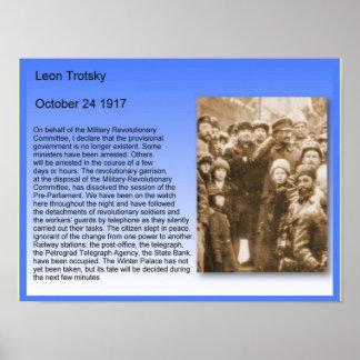 Geschiedenis, Oktoberrevolutie, Trotsky Toespraak Poster