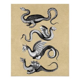 Geschiedenis van de Grafiek van de Muur van Draken Perfect Poster