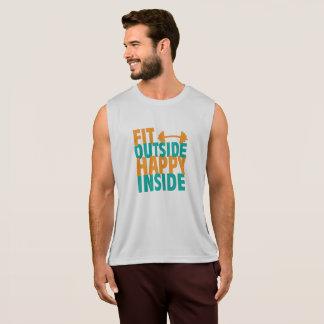 Geschikte Buiten Gelukkige Binnenkant Hemd