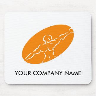 Geschiktheid Klantgerichte Mousepad - Sinaasappel Muismatten