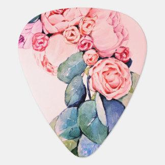 Geschilderd bloemen gitaar plectrum 0