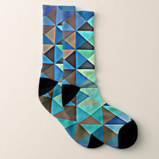 geschilderde aquadriehoeken sokken