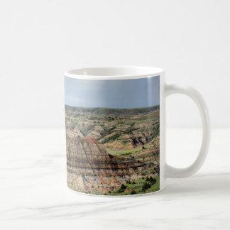 Geschilderde Canion in Badlands van Noord-Dakota Koffiemok