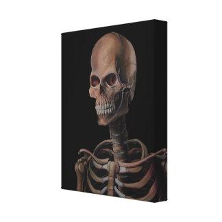 Geschilderde de Hand van het skelet Canvas Afdruk