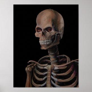 Geschilderde de Hand van het skelet Poster