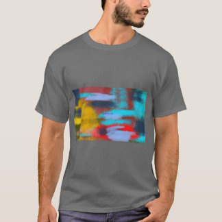 Geschilderde kleuren t shirt