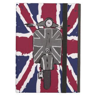 geschilderde retro autoped en Union Jack iPad Air Hoesje