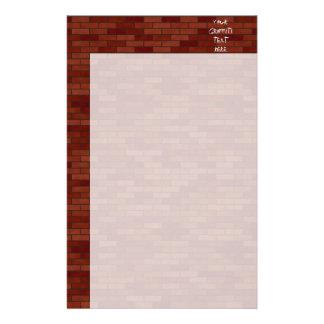 Geschrift op de bakstenen muur briefpapier papier