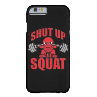Gesloten en Hurkende Bodybuilding - - de Dag van Barely There iPhone 6 Hoesje