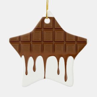 Gesmolten chocoladereep keramisch ster ornament