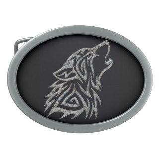 Gesp van de de wolfsriem van de steen de stammen