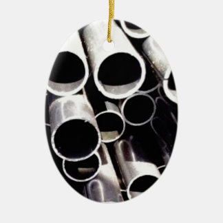 gestapelde cirkels van staal keramisch ovaal ornament
