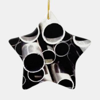 gestapelde cirkels van staal keramisch ster ornament