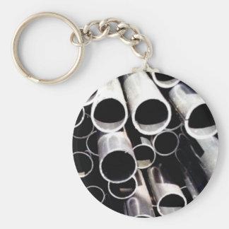 gestapelde cirkels van staal sleutelhanger