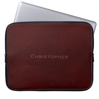 Gestempelde Gevlekte Bruin Laptop Computer Hoes