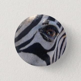 Gestreept oog ronde button 3,2 cm