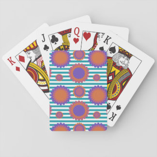 Gestreept van de Bloemen van de chrysant Pokerkaarten