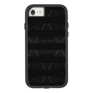 Gestreepte Argyle smukte Zwarte op Case-Mate Tough Extreme iPhone 8/7 Hoesje