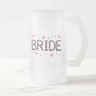 Gestreepte Bruid Matglas Bierpul