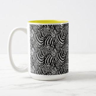 Gestreepte Druk Tweekleurige Koffiemok